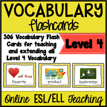 Online ESL Teaching Vocabulary Flashcards (VipKid Level 4)
