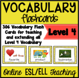 Online ESL Vocabulary Flashcards (VipKid Level 4)