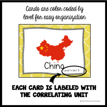Online ESL Teaching  (VIPKID Level 4) Vocabulary Prop Cards - Unit 3 - FREE