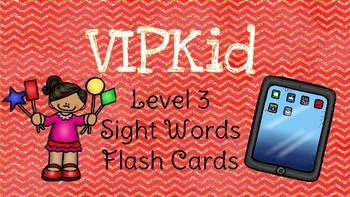 VIPKID Level 3 Units 1-12 sight word flashcards