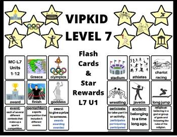 VIPKID Level 7 Unit 1 Flash Card & Star Reward Set