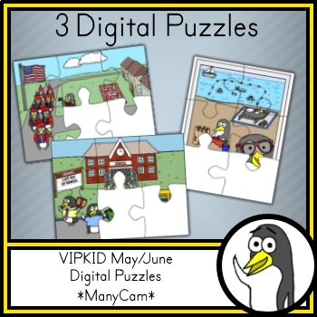 VIPKID / gogokid | May/June Digital Puzzles (ManyCam / CamTwist)