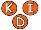VIPKID Orange and Green Circle Display Letters