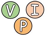 VIPKID Pastel Circle Display Letters