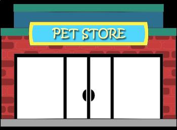 Online ESL Teaching - Pet Store Cat Dog Fish Bird Activity Reward Prop VIPKID