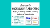 VIPKID Print and Go Index Cards Words-Only Vocabulary Flash Cards VIP KID