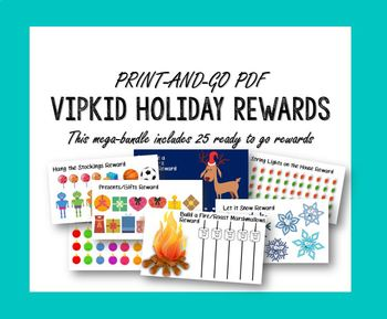 VIPKID Printable Christmas Winter Rewards Mega Bundle PDF VIP KID