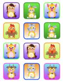 VIPKID Rewards - Dino Farm Animals - Memory and Find a Star Games Set #2