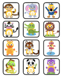 VIPKID Rewards - Dino Jungle Zoo Animals - Memory and Find a Star Games