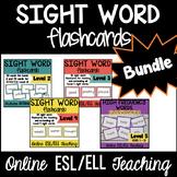 Online ESL Teaching Sight Word Bundle (VIPKID Levels 2, 3, 4, & Trials)