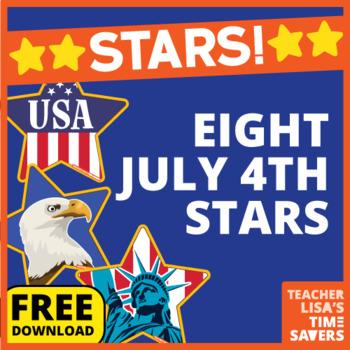 VIPKID Star Reward Set of 8 - 4th of July U.S.A Themed