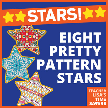 VIPKID Star Reward Set of 8 - Pretty Pattern