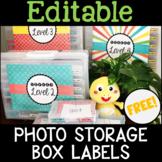 Photo Storage Box Labels for Online ESL Teaching (VIPKID) - FREE