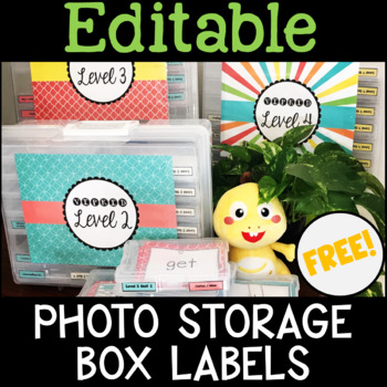 Photo Storage Box Labels for Online ESL Teaching (VIPKID) - FREE