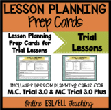 Online ESL Teaching Trial Lesson Planning Prep Cards (VipKid)