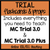 Online ESL Trial Flashcards and Props (VipKid) UPDATED! INCLUDES MC TRAILS 3.0