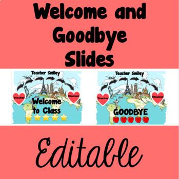Online ESL Welcome Screen or Classroom Teacher Sign - EDITABLE!