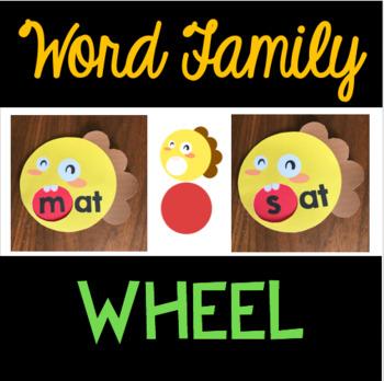 Online ESL Teaching Word Family Wheel (VIPKID) - FREE