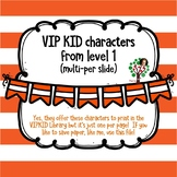 VIPKID characters for Level 1