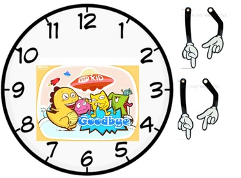 VIPKID goodbye clock  (during goodbye song) rough draft