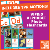 VIPKid Alphabet Flashcards - With TPR Motions and 5 Photog