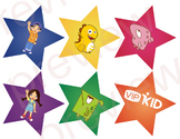 VIPKid Character Stars Reward - Meg, Mike, Dino, Monsters - Classroom Decor