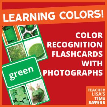 VIPKid Color Recognition Flashcards Set of 12 Front/Back