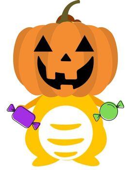 VIPKid Dress Up Dino - Halloween Jack-O-Lantern