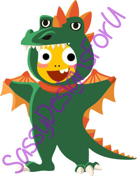 VIPKid Dress Up Dino Halloween Reward