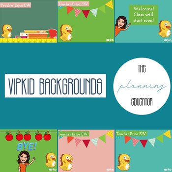 Vipkid Green Screen Backgrounds By The Planning Educator Tpt