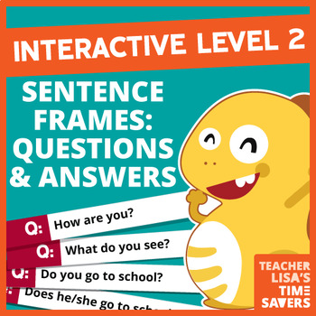 VIPKid Interactive Level 2 Sentence Frames - 223 Questions and Answers!!!