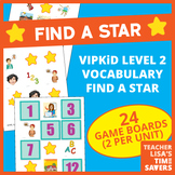 VIPKid Interactive Level 2 Vocabulary Find A Star