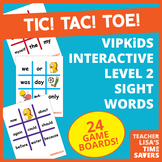 VIPKid Level 2 Interactive Sight Word Tic Tac Toe Reward Set