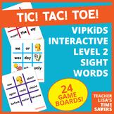 VIPKid Level 2 Interactive Sight Word Tic Tac Toe Reward Set