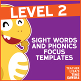 VIPKid Level 2 Sight Words and Phonics Focus Templates