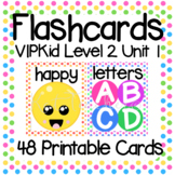 VIPKid Level 2 Unit 1: 50 Printable Flashcards and Props for Teaching ESL Online