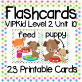 VIPKid Level 2 Unit 10: 30 Printable Flashcards & Props for Teaching ESL Online