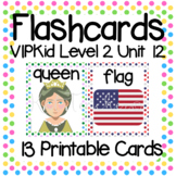 VIPKid Level 2 Unit 12: 20 Printable Flashcards & Props for Teaching ESL Online