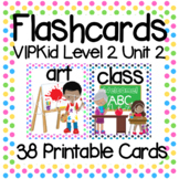 VIPKid Level 2 Unit 2: 41 Printable Flashcards and Props for Teaching ESL Online
