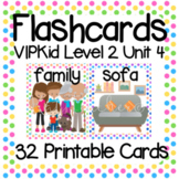 VIPKid Level 2 Unit 4: 35 Printable Flashcards and Props for Teaching ESL Online
