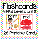VIPKid Level 2 Unit 8: 32 Printable Flashcards and Props for Teaching ESL Online