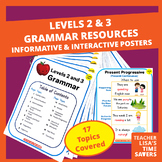 VIPKid Levels 2 and 3 Grammar Resources - 34 Pages!