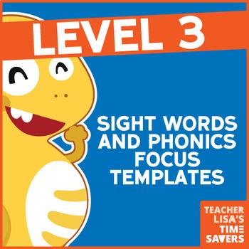 VIPKid Level 3 Sight Words and Phonics Focus Templates