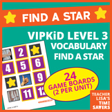 VIPKid Level 3 Vocabulary Find a Star Reward