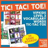 VIPKid Level 3 Vocabulary Tic Tac Toe Reward Set