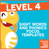 VIPKid Level 4 Sight Words and Phonics Focus Templates