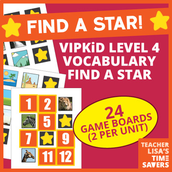 VIPKid Level 4 Vocabulary Find a Star Reward