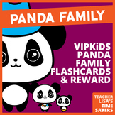 VIPKid Panda Family Flashcard and Reward Set (Level 2)
