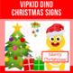 "VIPKid Santa Dino ""Merry Christmas"" Signs | Christmas Classroom Decor"