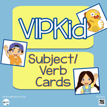 VIPKid Subject/Verb Cards ~ FREE Download